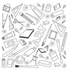Doodle set of art vector image