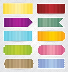 Labels Tags Banners With White Border Design vector image vector image