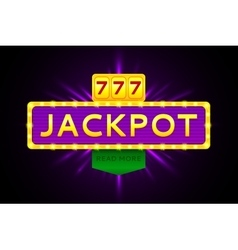 Retro banner of jackpot vector image
