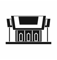 Thailand Temple icon simple style vector image
