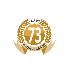 73 years ribbon anniversary vector image