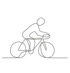 bicycle one line drawing vector image vector image