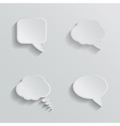 Chat bubbles - paper cut design White color on vector image