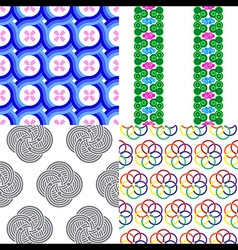 Circle Curl Seamless Pattern vector image vector image
