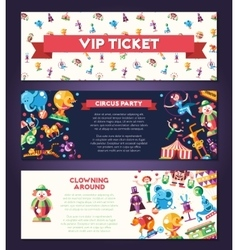 Circus carnival icons and infographic elements vector