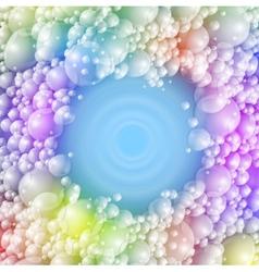 Colorful foam vector image