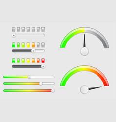 interface web elements internet sliders volume vector image