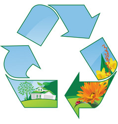 recycling world vector image vector image