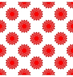 seamless pattern with bstract sun flat vector image vector image