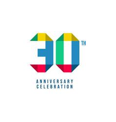 30 th anniversary celebration template design vector