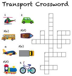 A transport crossword worksheet vector