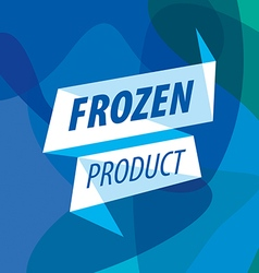 Abstract logo for frozen foods in the form of a vector