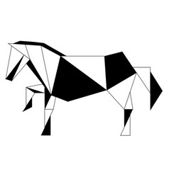 Abstract low poly horse icon vector