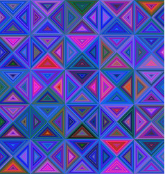 Abstract regular triangle mosaic background vector image