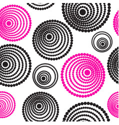 abstract seamless pattern of concentric circles vector image
