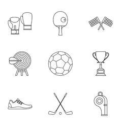 Accessories for training icons set outline style vector