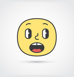 afraid emoji face with big eyes eps10 vector image