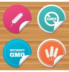 Agricultural icons GMO free symbols vector image
