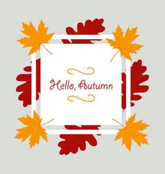 Autumn season banner greeting card vector