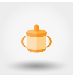 Baby cup icon vector