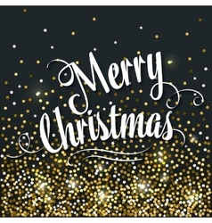 Banner with Lettering Merry Christmas vector image