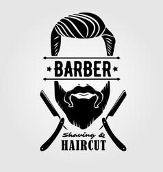 barbershop vintage label badge or emblem vector image