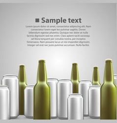 Beer flyer background vector