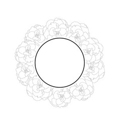 begonia flower outline picotee banner wreath vector image