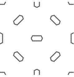 bicycle chain pattern seamless black vector image