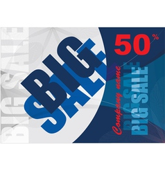 big sale template background vector image
