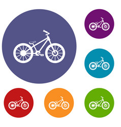 Bike icons set vector