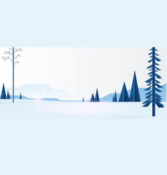 blue trees in forest vector image