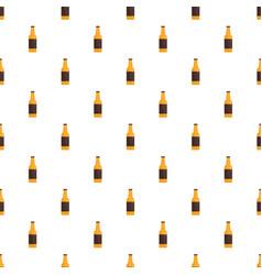 bottle of german beer pattern seamless vector image