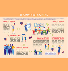 business teamwork brainstorming and cooperation vector image