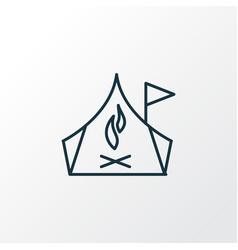 camping zone icon line symbol premium quality vector image