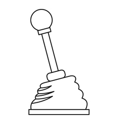 Car gear stick icon outline style vector image