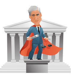 caricature special counsel robert mueller vector image