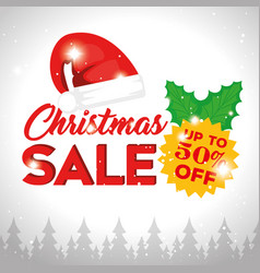 christmas sale banner background vector image vector image