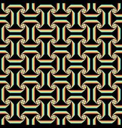 colorful ribbon seamless pattern vector image