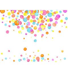 confetti background watercolor confetti design vector image