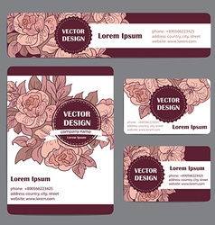 Corporate Identity templates set with doodles vector image