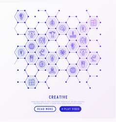 creative concept in honeycombs vector image