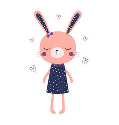 cute bunny girl isolated vector image
