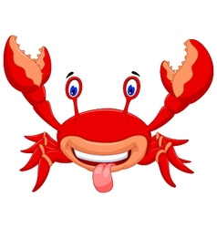 cute crab cartoon for you design vector image