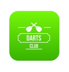darts icon green vector image