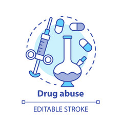 drug abuse concept icon narcotic opioid addiction vector image