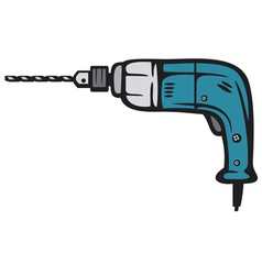 Electric drill vector