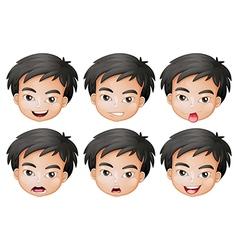 Faces of a boy vector