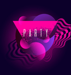 fashion poster for party in abstract style vector image
