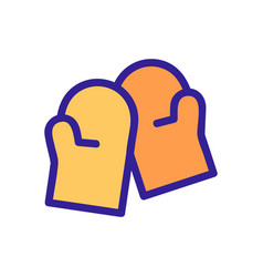 Firepromittens icon isolated contour vector